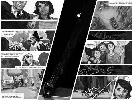 Sample spread from JFK and the Unspeakable by OliverHine
