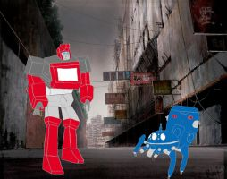 Tachikoma meets Ironhide by AVGNJr1985