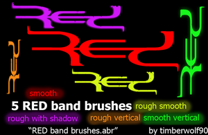 5 RED band logo brushes by timberwolf90