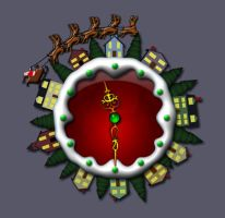 Animated Christmas_Clock by CybOrSpasm