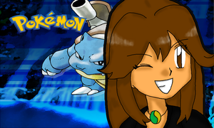 PKMN - Blue (Green) as Green (Blue) - Desktop Wall by Tibby-san