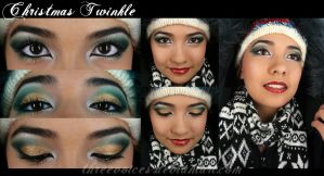 Makeup - Christmas Twinkle by threevoices