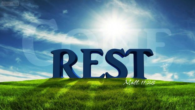 Rest- Matthew 11:28 by SympleArts