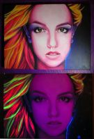 Britney Spears Glow Portrait by greendesire