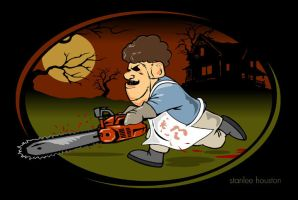 Leatherface Cartoon by stanleehouston