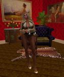 Relaxing at home in my pantyhose by RobinWalker1990
