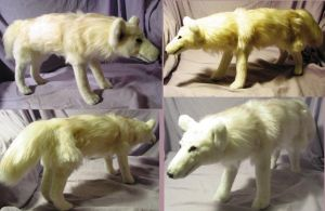 Ghost Direwolf Plush Game of Thrones by Jarahamee