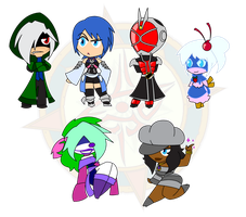 Assorted Chibis - Set 1 by Dragon-FangX