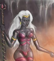 Drow Queen, Concept art by Scarecrowlover