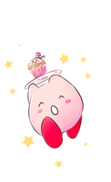 Fancy Kirby Cupcake by SackDrawer