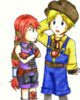 Dark Cloud 2: Max and Monica by Magic-Cake-Woman