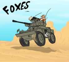 Foxes! by KenFKol