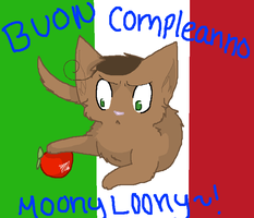 Buon Compelanno Moonyl00ny! by Potato-Kitten