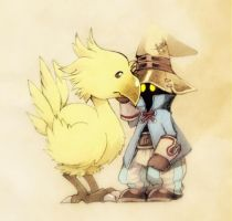 I've never seen a chocobo before. by ctrlkun