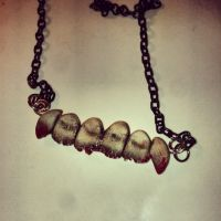 Zombie teeth necklace by kawaiibuddies