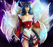 Ahri by Glass-Owl