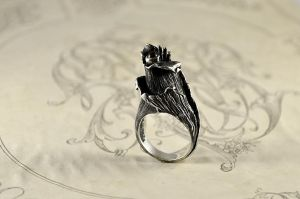 FLOWER silver ring by GatoJewel-DerKater