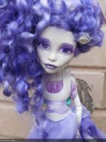 monster high custom repaint doll hyacinth fairy by Rach-Hells-Dollhaus