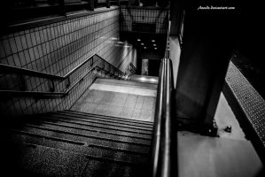 Corridors and Stairs by Aneede