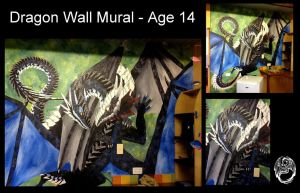 Dragon Wall Mural - Age 14 by SonsationalCreations