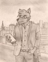 Casual business wolf by gupa507