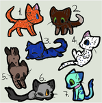 Adoptables Batch 1 by Halfkit