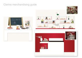 Clarins Merchandising Guide by dustbean11