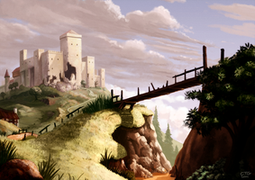 Castle on a Hill by Chris-Garrett