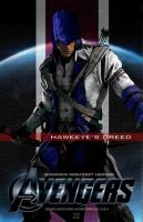 Video Game Avengers Hawkeye's Creed Fan Art by rs2studios