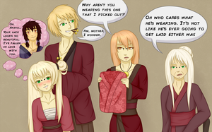 formal attire -meet Akira's family by WhipCrack