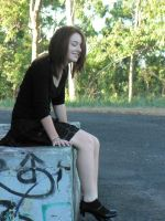Model : Brooke sitting 2 by Deaths-stock