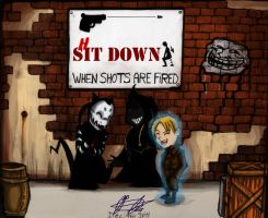 Shit-down-when-shots-are-fired::COLOR:: by Pygmyink