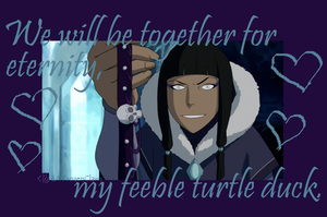 Valentine of Korra: My Feeble Turtle Duck by FrozenClaws
