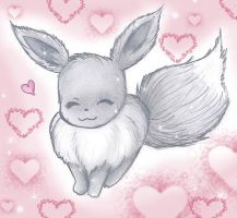 Shiny Eevee Loves You by pegacorn
