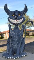 Cheshire Cat Prop Statue  -Front- by kikyo4ever