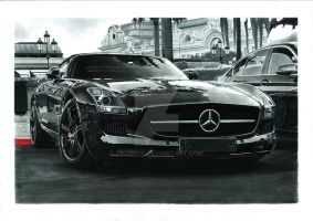 Mercedes-Benz SLS AMG Roadster by przemus