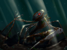 beasts of 9 - underwater beast by thistledownhair