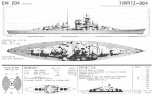 Technical Drawings: KMS Tirpitz by bwan69