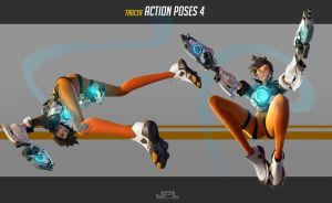 OVERWATCH Tracer Action Poses 4 by JPL-Animation