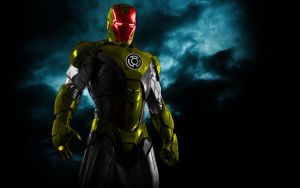 Iron Man Yellow Lantern Armor by 666Darks