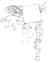 Winged Guitar Frame by littlenatnatz101