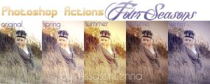 Photoshop Actions Four Seasons by AssassinLenna