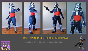 Wolf O'Donnell Fursuit/Cosplay by W0LFB0NE