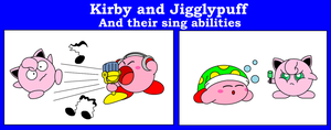 Kirby And Jigglypuff by DarkDiddyKong