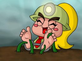 Goombella Tickled by Lord-Reckless