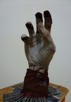 zombie's right hand front by Wraphi