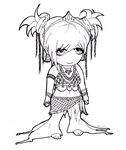 Tribal Dance Chibi by LoveoftheDark