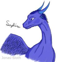 Saphira colored by Jonas-Sloth