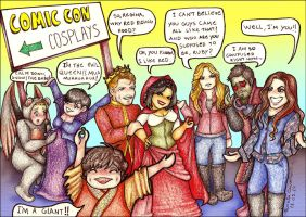 Once upon a time a cosplay event. by Lillymonkey