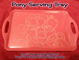 Pony Hugs Serving Tray by AnimeAmy